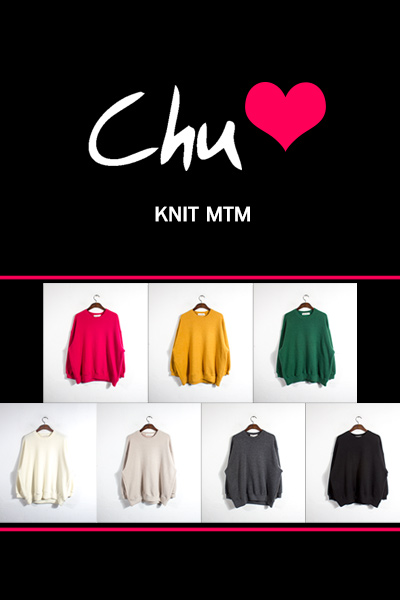 top1535. Chu knit MTM [7color][SOLD OUT]