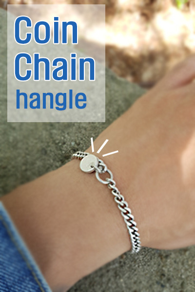 acc1088. Coin Chain hangle