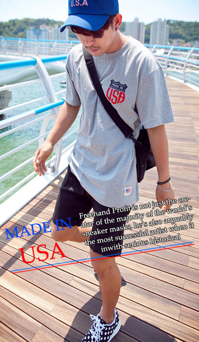 top1132. usa patch loose fit T-shirts [3color][SOLD OUT]