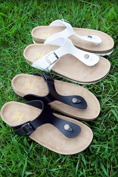 acc816. two strap sandal [2color]