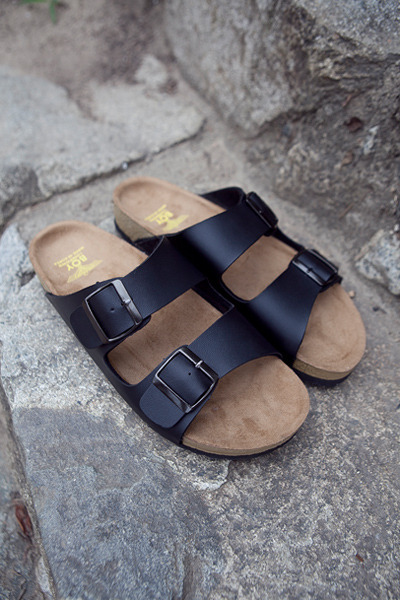 acc812. cork two buckle sandal [3color]