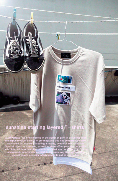 top1319. sunshine starting layered T-shirts [4color] [SOLD OUT]