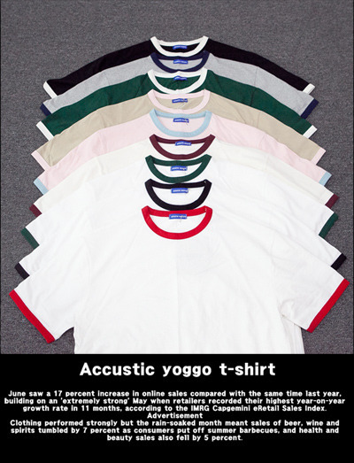 top1275. accustic yoggo t-shirt [9color][SOLD OUT]