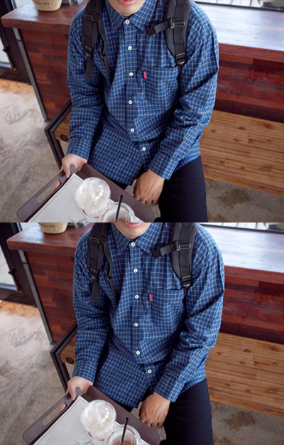 top1362. neat check shirt [3color]