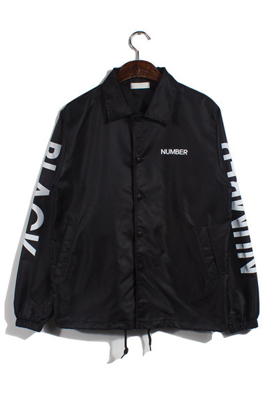 unique080. black number coach jacket [2color][SOLD OUT]