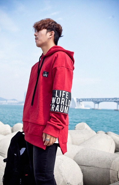 top1455. LIFE armband hood [3color][SOLD OUT]