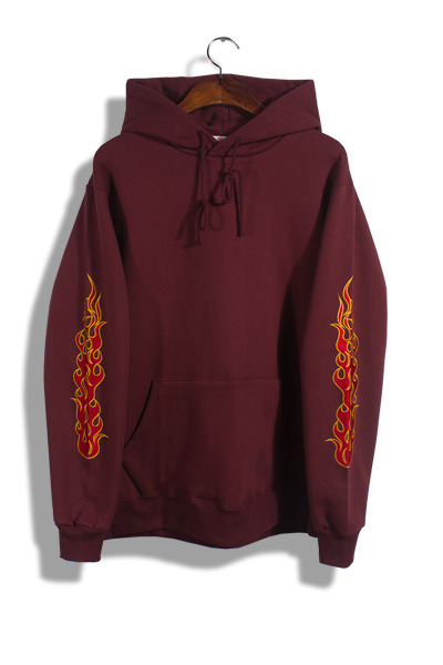 unique120. sleeve fire embroidery hood [3color][SOLD OUT]