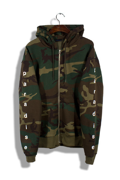 unique153. camo hood zip-up[SOLD OUT]