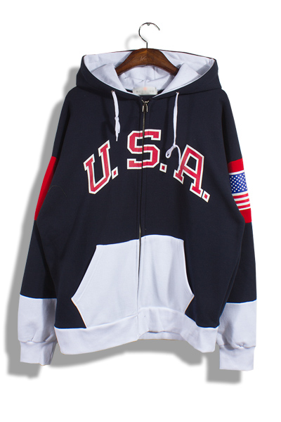 unique169. usa hood zip up [2color][SOLD OUT]