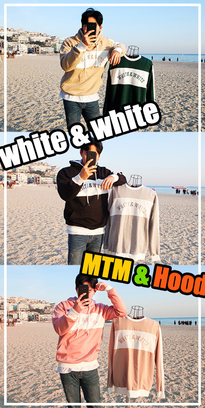 top1550. white & white hood / mtm [7color][SOLD OUT]