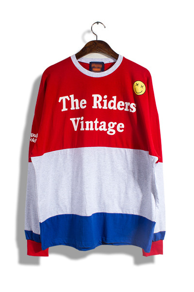 unique257. riders vintage t-shirt [2color]