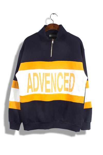 unique268. advenced half zip-up mtm [2color]
