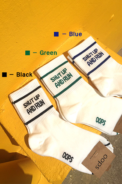 acc985. And Run Socks [3color]