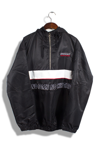unique238. no pain no where ring anorak [3color]