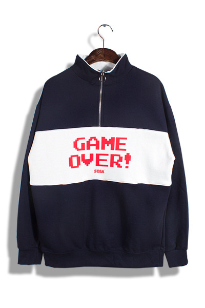unique271. game over half zip-up mtm [3color] -기모추가-