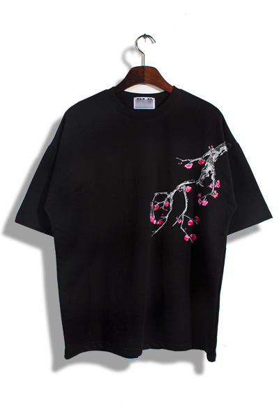 unique279. Japanese blossom half T [4color] -단독진행, 당일배송!!