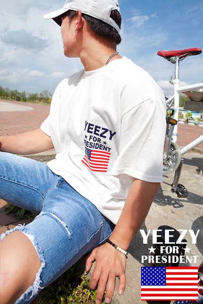 top1625. yeezy for president T [3color]