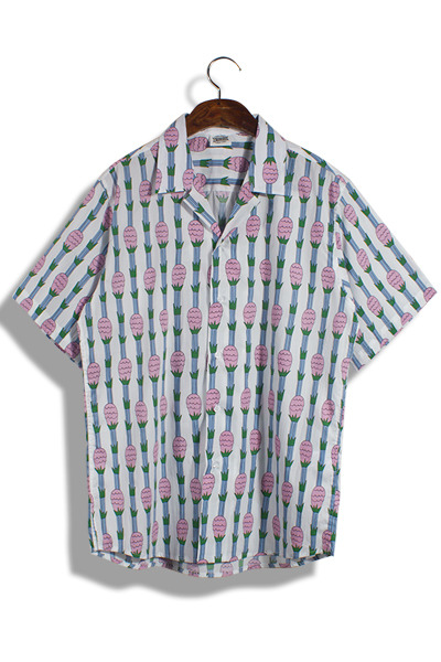 unique335. pineapple pastel shirt [3color]
