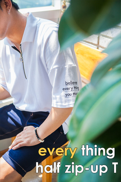 top1679. everything half zip-up T [4color]