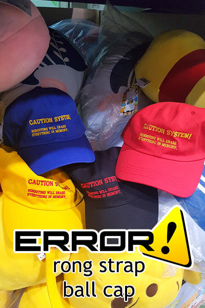 acc1106. error rong strap ball cap [4color]