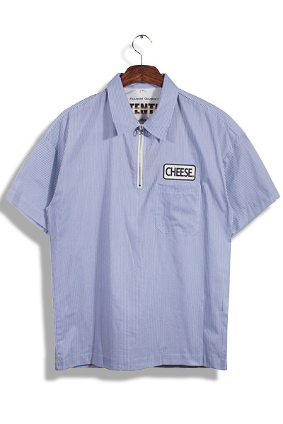 unique393. Cheese Half Zip-up Shirts [3color]