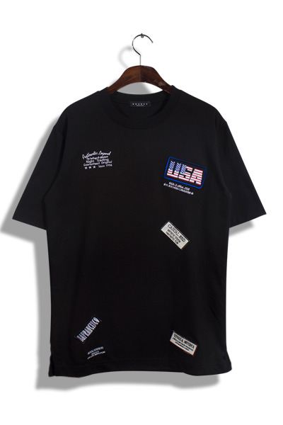 unique407. USA name tag T [3color]