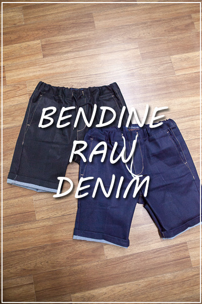 pants1123. bending raw denim pants [2color]