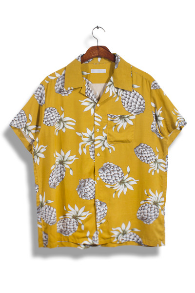 unique396. Pineapple pocket shirt [3color]