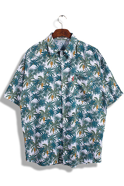 unique472. Banana Palm Pattern Shirts [2color]