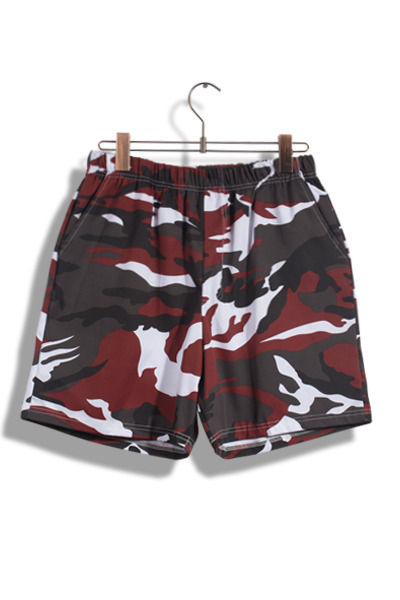unique414. Camo 1/2 pants [3color]
