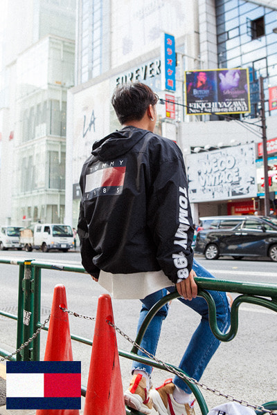 outer1122. tommy back logo anorak [2color]
