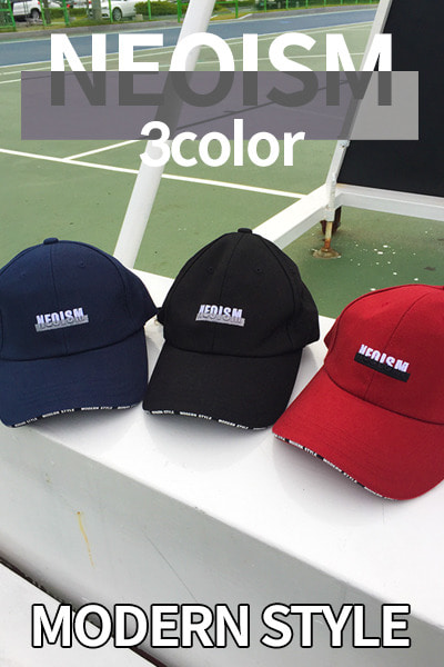 acc1131. neoism line ball cap [3color]