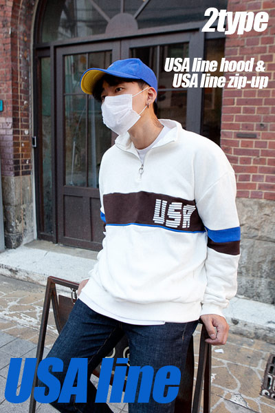 top1837.USA line hood & USA line zip-up [4color] -봄원단진행!-