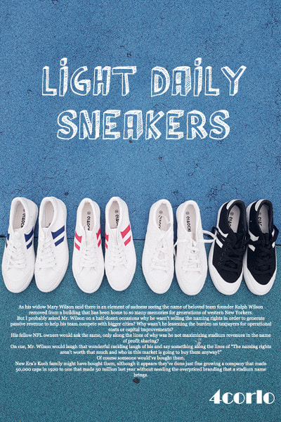 acc1116. light daily sneakers [4color]