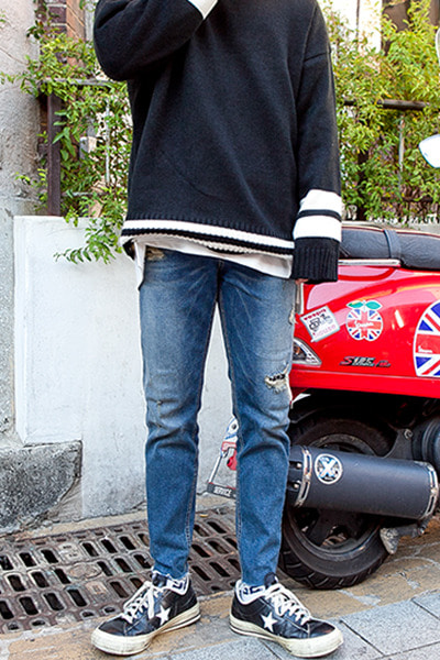 pants1182. vintage patch denim pants