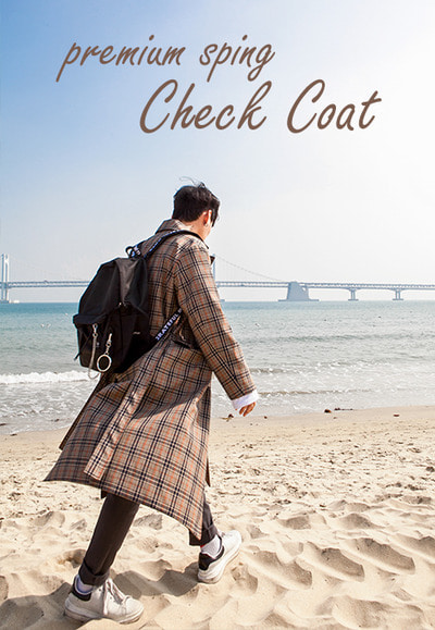 outer1209. premium spring check coat [2color]