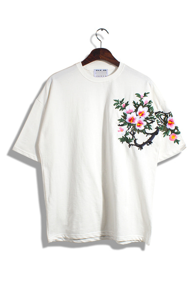 unique312. rose of sharon patch T [4color] -당일배송-
