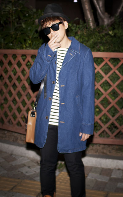outer256. vintage denim coat[SOLD OUT]