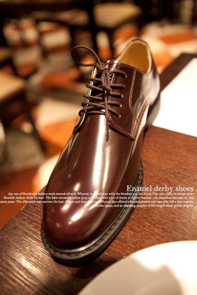 acc224. enamel derby shoes [2color]