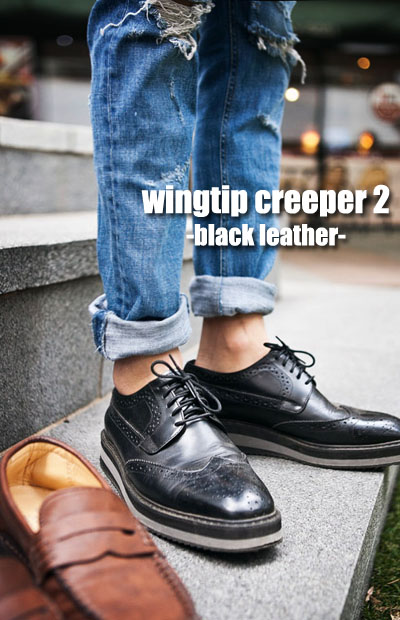 acc248. wingtip creeper 2 -100%cow leather-