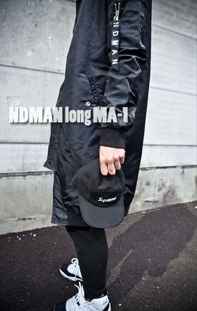 outer387. NDMAN long MA-1 jacket [3color][SOLD OUT]