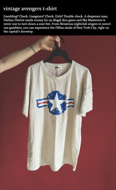 top637. vintage avengers t-shirt [3color][SOLD OUT]