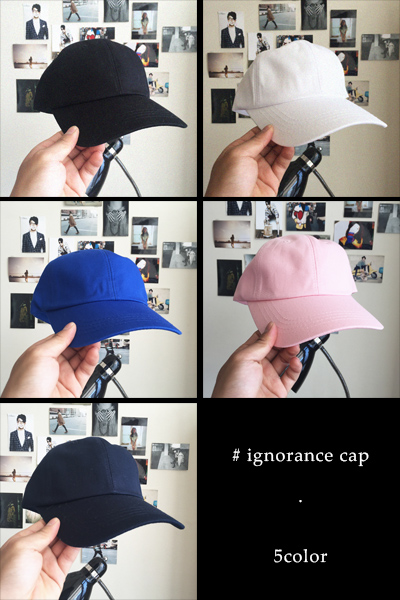 acc664. ignorance cap [5color]