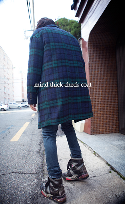 outer632. mind thick check coat [2color]