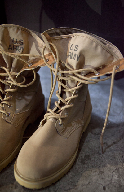 acc729. US army desert boots