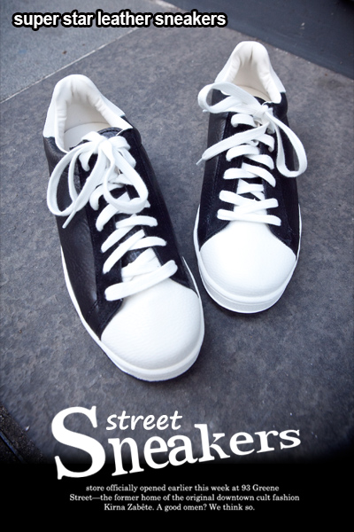 acc727. super star leather sneakers [2color]