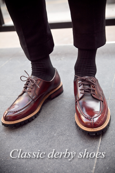 acc753. classic derby shoes [2color]