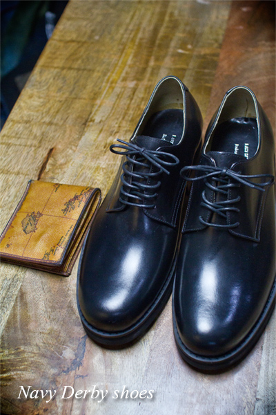 acc757. navy derby shoes