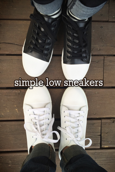 acc378. simple low sneakers [3color]