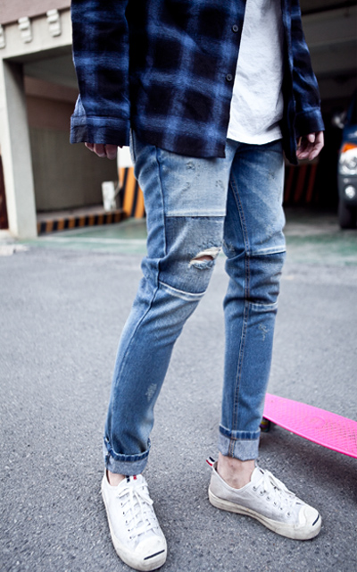 pants794. board patch half baggy
